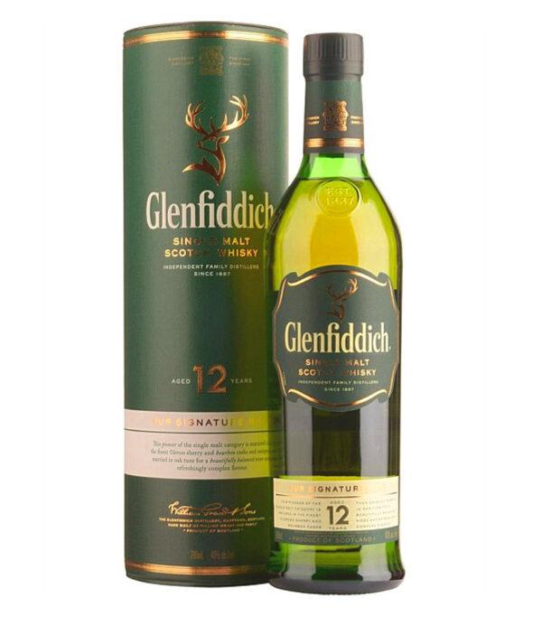 GLENFIDDICH SINGLE MALT SCOTCH WHISKY 12 YO