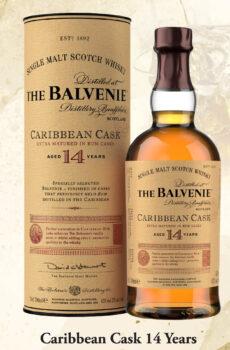 THE BALVENIE CARRIBEAN CASK AGED 14 YEARS SINGLE MALT WHISKY