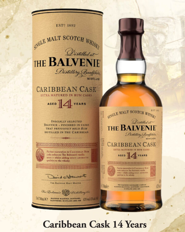 THE BALVENIE CARRIBEAN CASK AGED 14 YEARS SINGLE MALT WHISKY