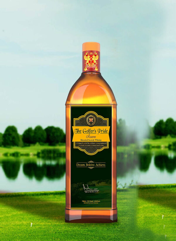 THE GOLFER'S PRIDE PREMIUM GOLD WHISKY